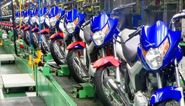 Produção de motos cai 20% em abril