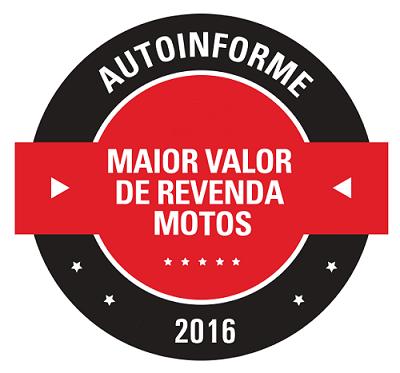 Prêmio Maior Valor de Revenda – Motos 2016