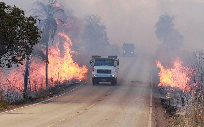 Seca e irresponsabilidade causam queimadas nas rodovias
