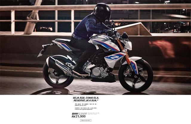 BMW lança site de pré-venda da moto G 310 R