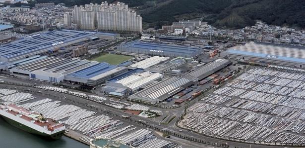 Na Coreia do Sul, a maior fábrica de carros do mundo