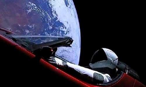Esse carro foi para o espaço