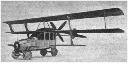 O CurtissAutoplane: metade carro, metade avião,  99% não voador| Fonte: WikimediaCommons