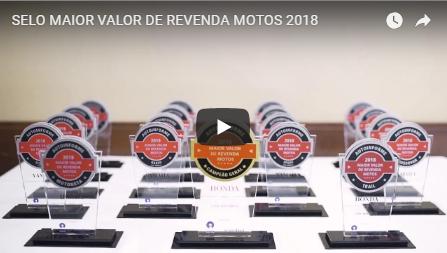 Selo Maior Valor de Revenda Motos 2018