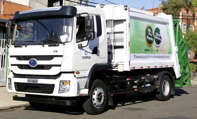 Corpus tem frota de caminhões elétricos
