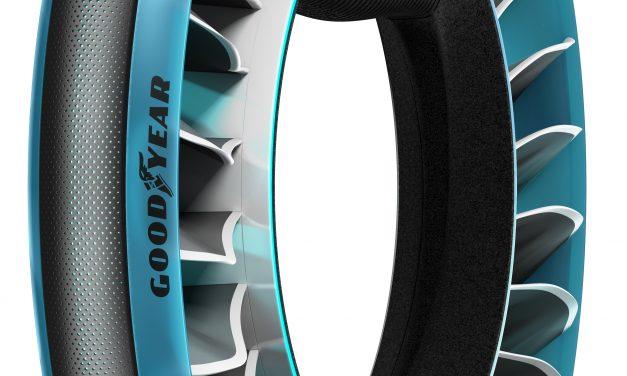 Carro voador também precisa de pneu