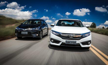 Civic e Corolla são os mais procurados pelo consumidor